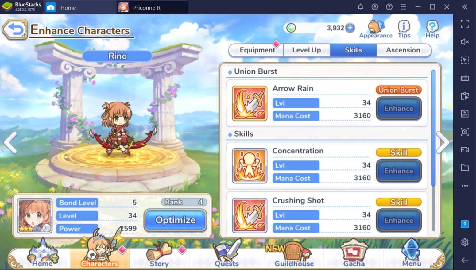 Princess Connect! Re: Dive – Upgrading Your Characters