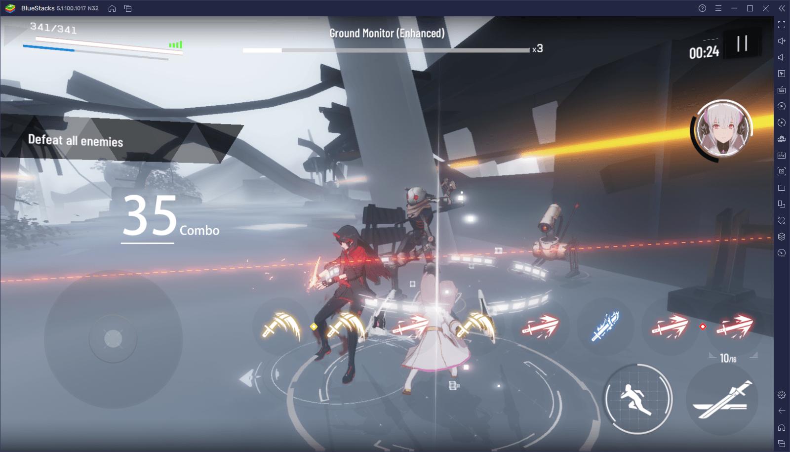 Introdução às mecânicas de combate de Punishing: Gray Raven