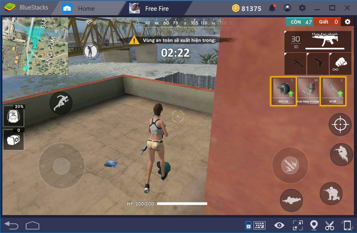 Cách chơi Garena Free Fire trên PC với BlueStacks