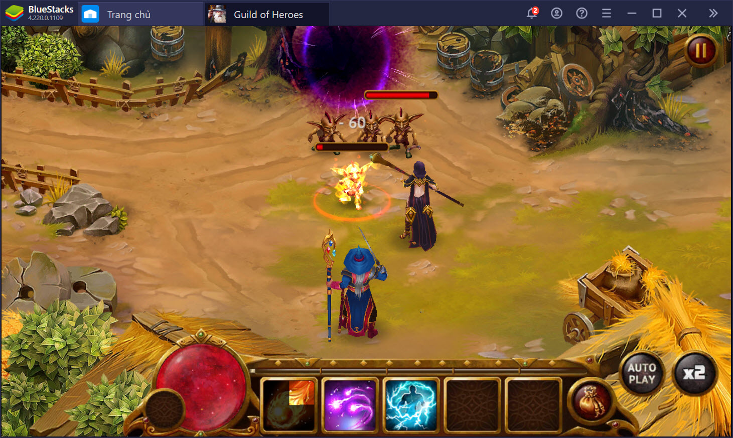 Guild of Heroes: Khám phá thế giới ma thuật phương Tây cùng BlueStacks