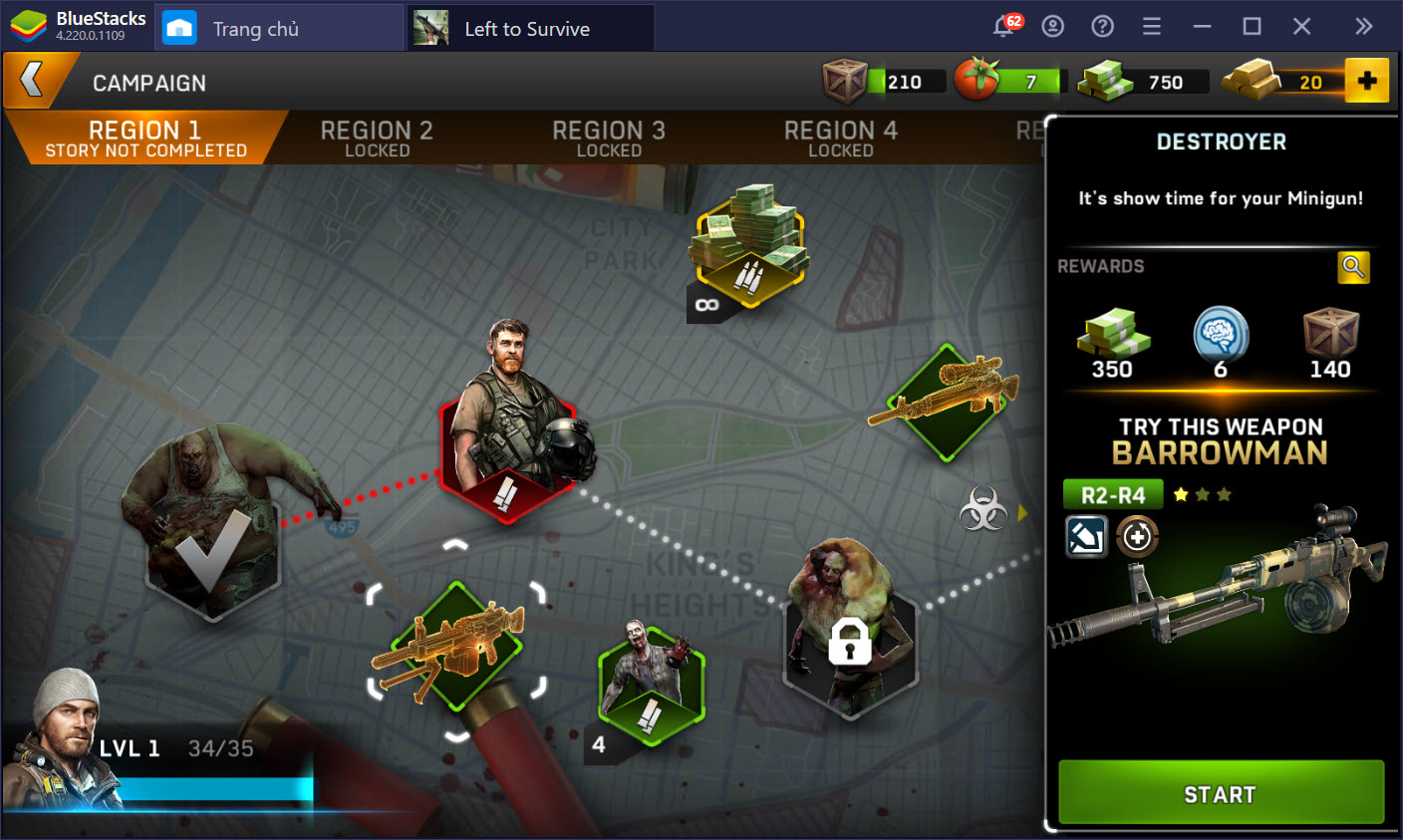 Sinh tồn trong thế giới Left to Survive: Dead Zombie cùng BlueStacks