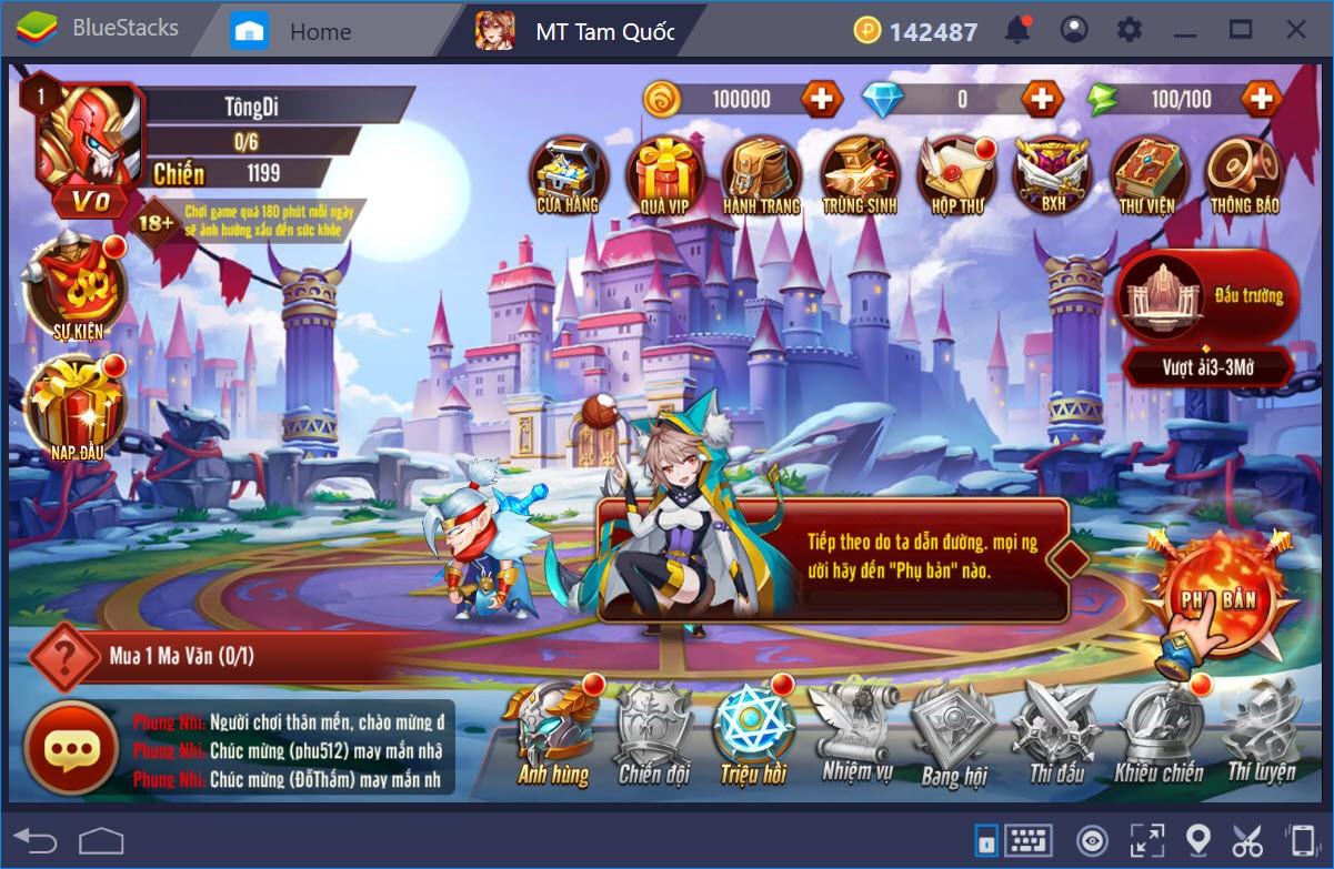 Trải nghiệm MT Tam Quốc trên PC với BlueStacks