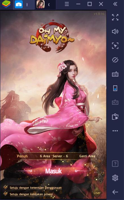 Cara Main Oh My Daimyo di PC