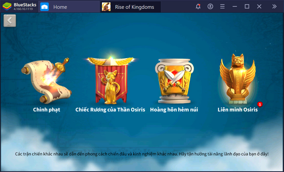 Cùng chinh phục thế giới Rise of Kingdoms với BlueStacks