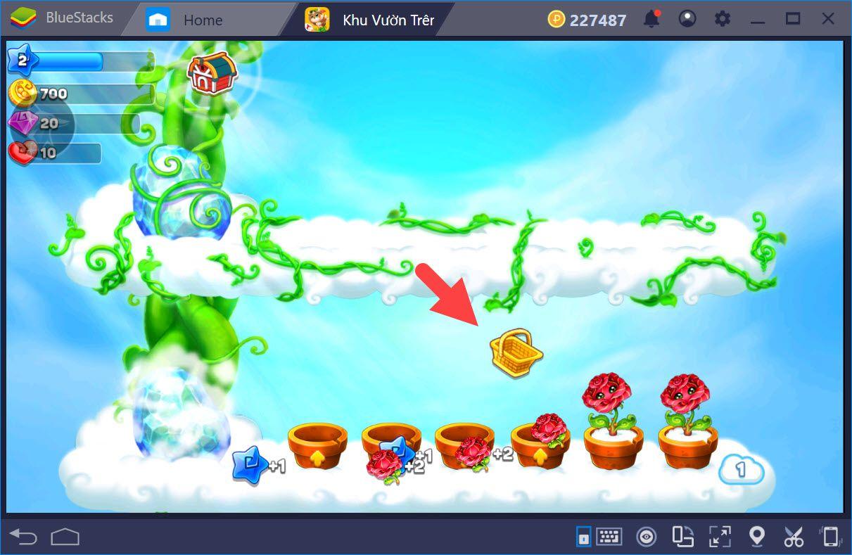 Cùng chơi Sky Garden – Khu Vườn Trên Mây với BlueStacks