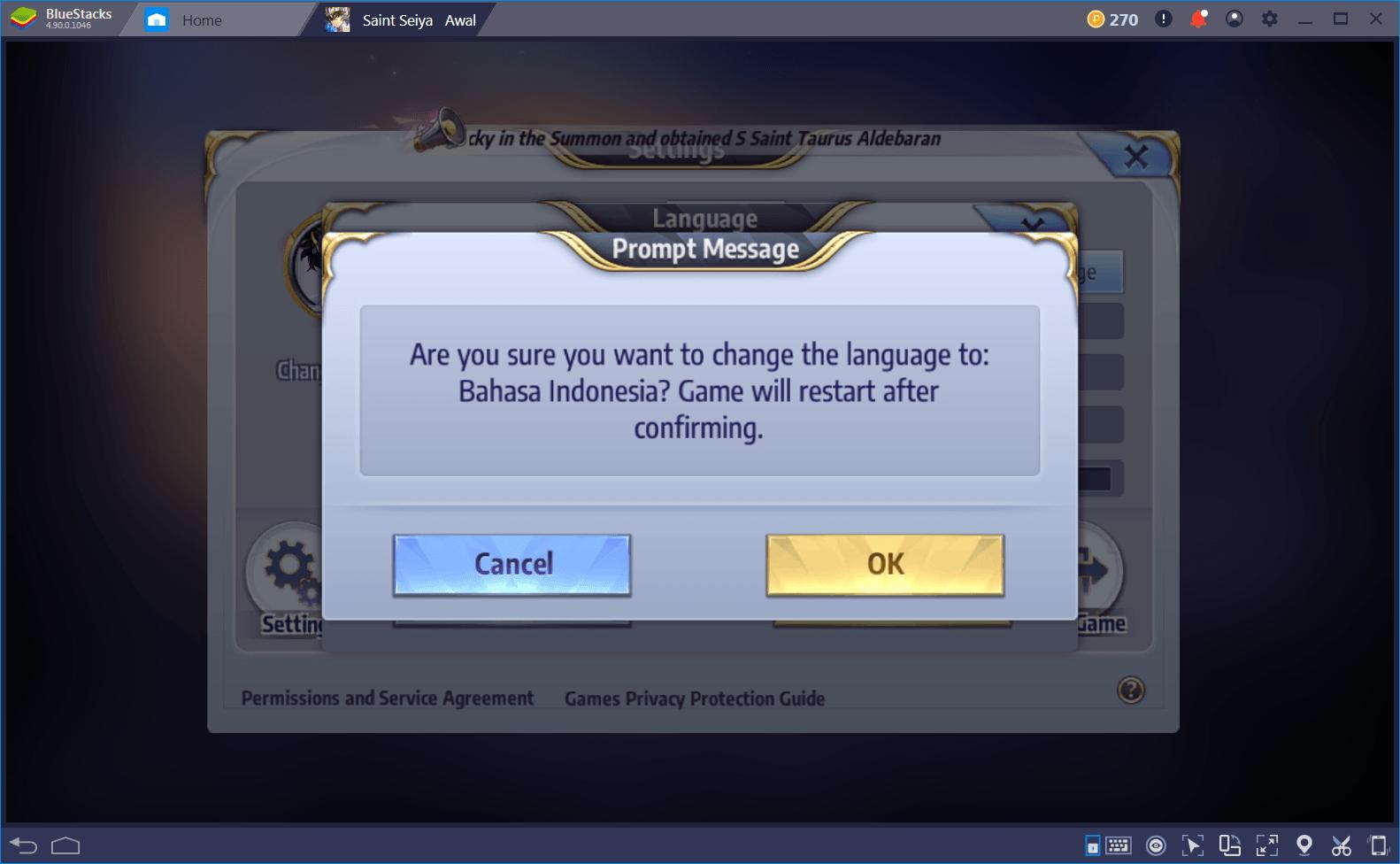 Cara bermain Saint Seiya: Awakening di PC