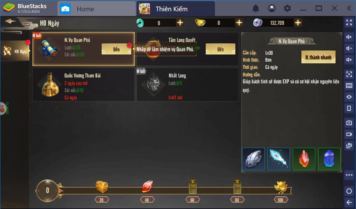 Tìm hiểu lối chơi Thiên Kiếm Mobile cùng BlueStacks