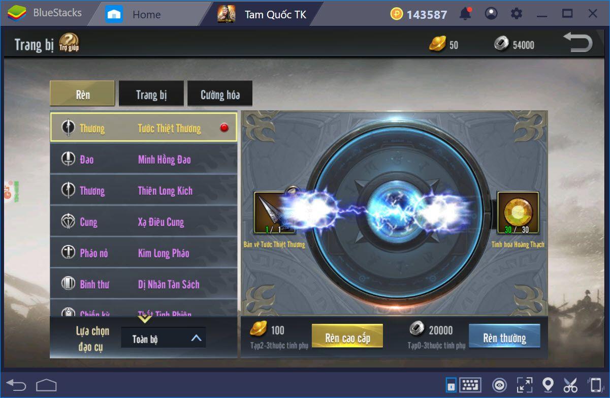 Cùng chơi Tam Quốc Truyền Kỳ Mobile trên PC với BlueStacks