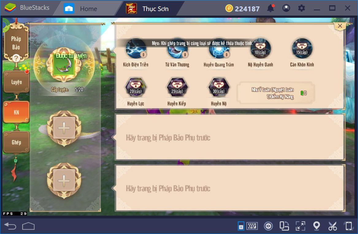 Trải nghiệm Thục Sơn Kỳ Hiệp Mobile trên PC với BlueStacks