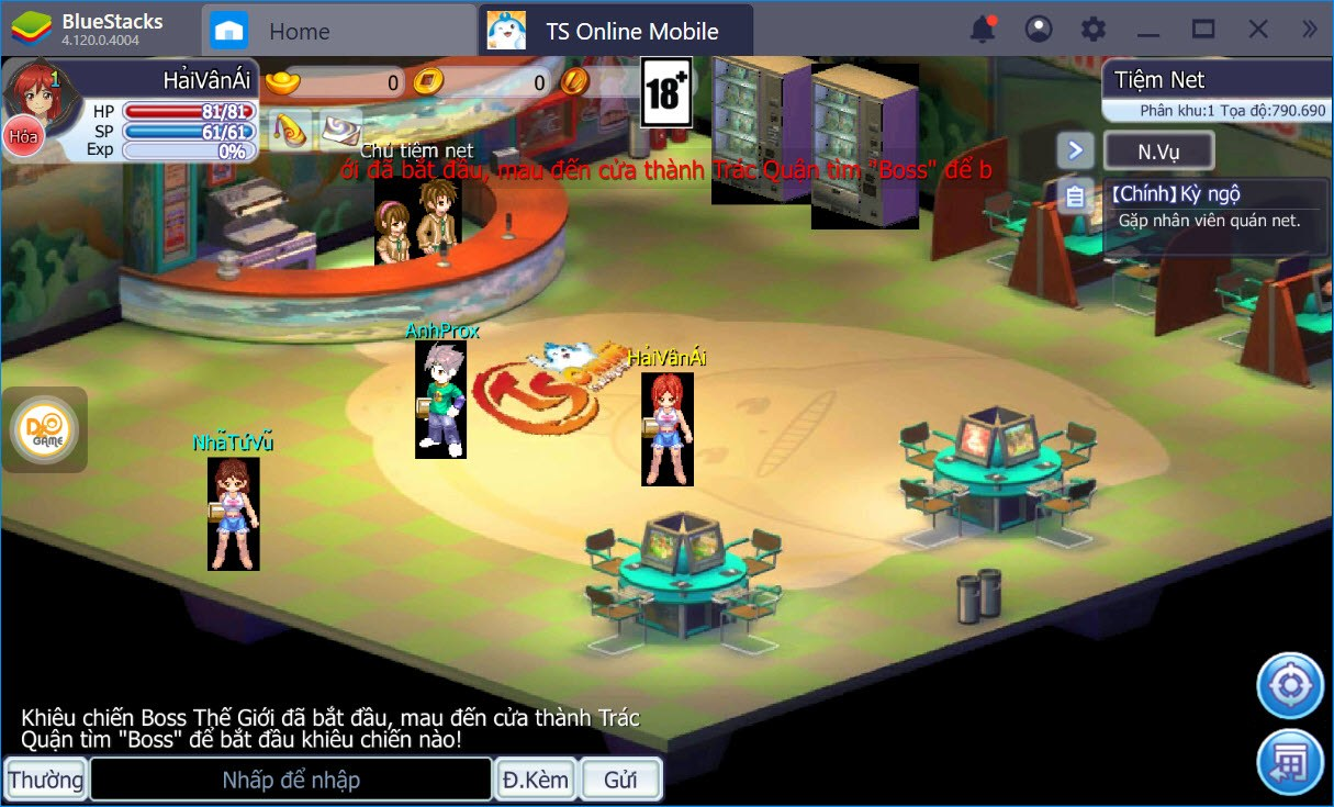 Trở lại tuổi thơ với TS Online Mobile cùng BlueStacks