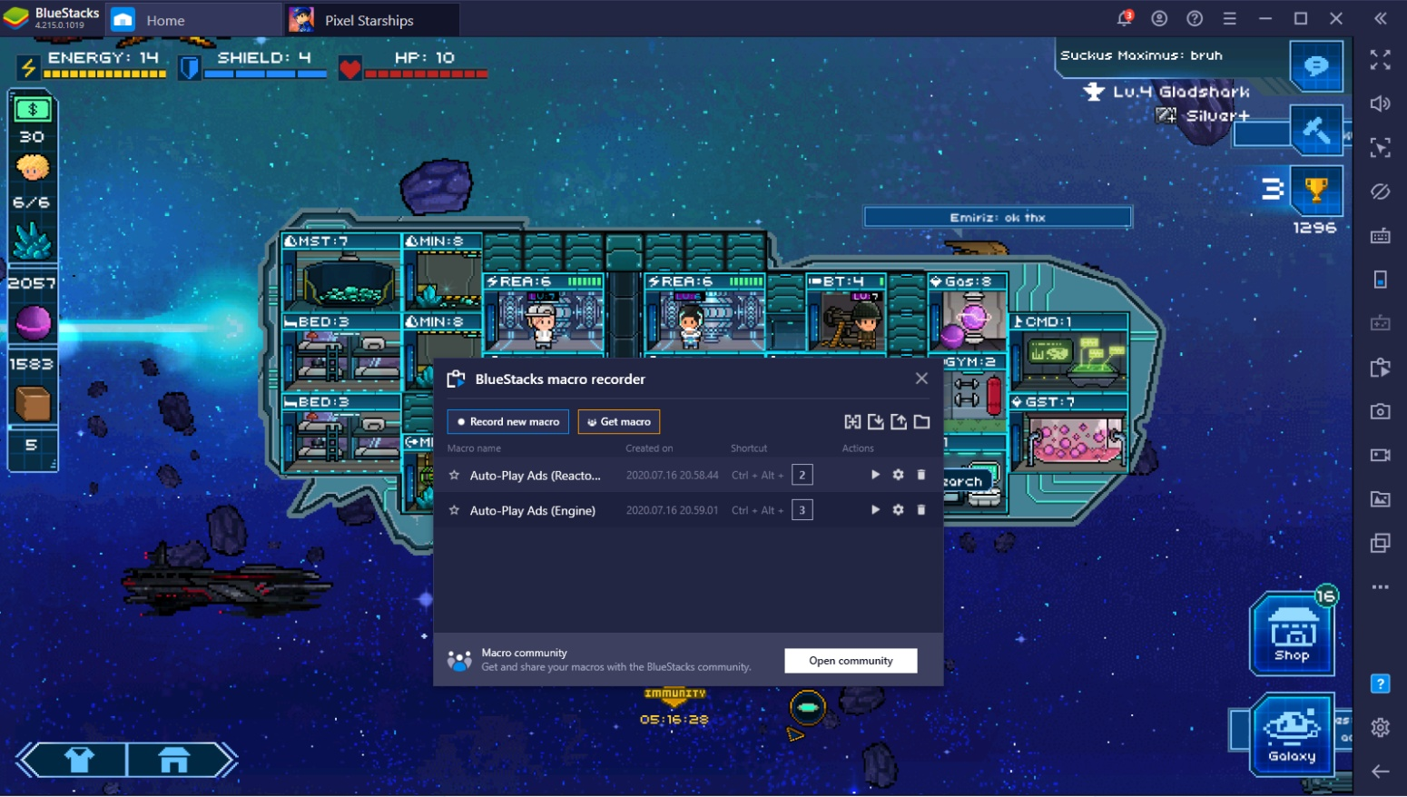 Setting Up Pixel Starships For Victory with BlueStacks on PC