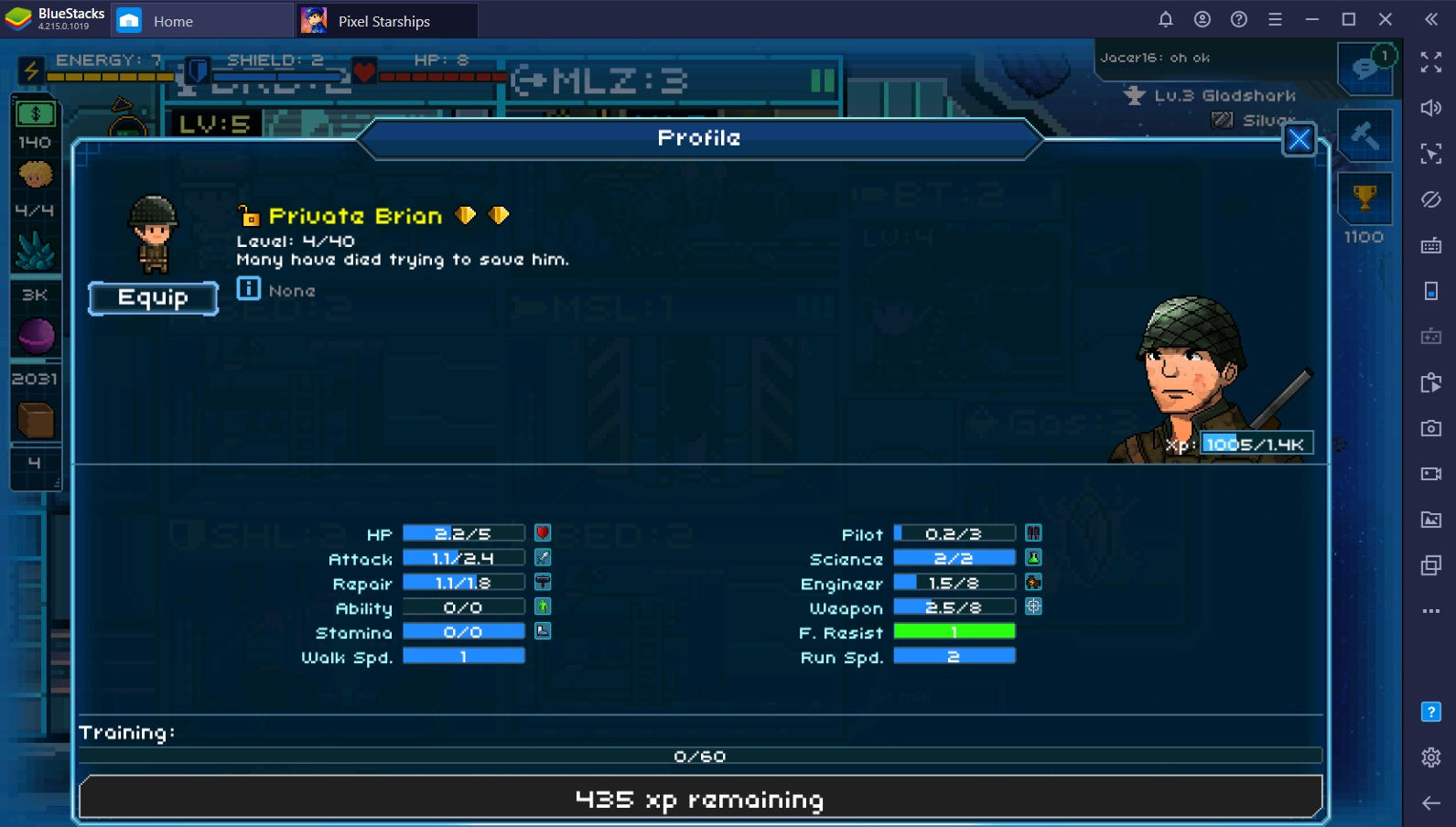 Intergalactic Review on Pixel Starships Galaxy with BlueStacks on PC