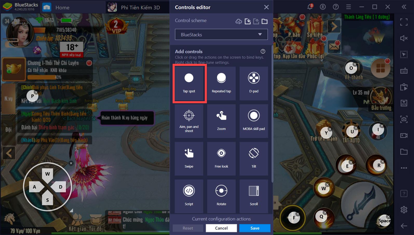 Combo hoàn hảo song hành cùng Phi Tiên Kiếm 3D với Game Controls