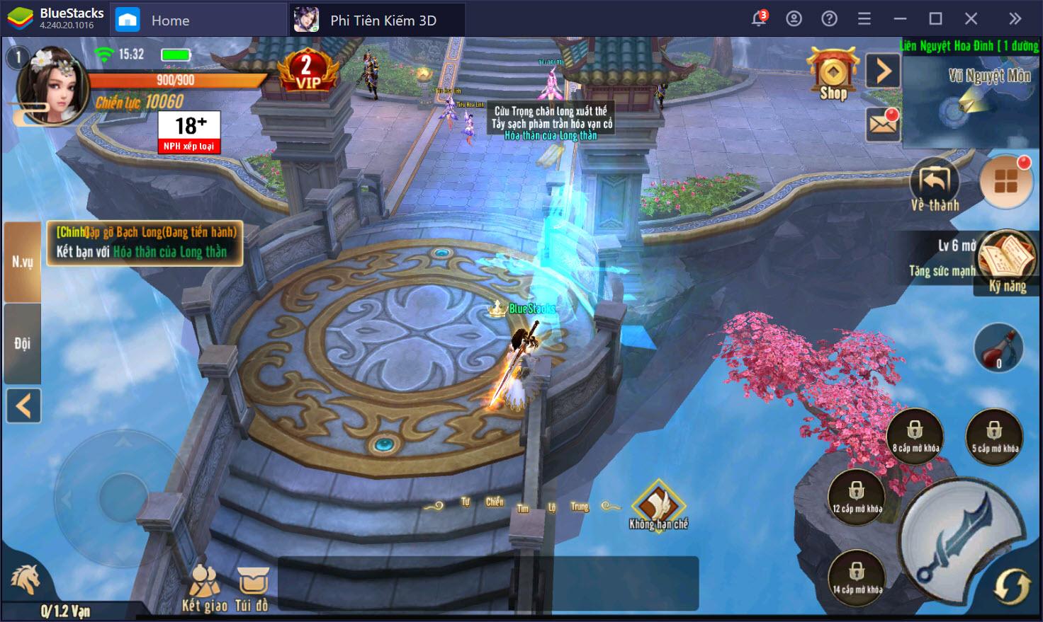 Trải nghiệm Phi Tiên Kiếm 3D trên PC cùng BlueStacks