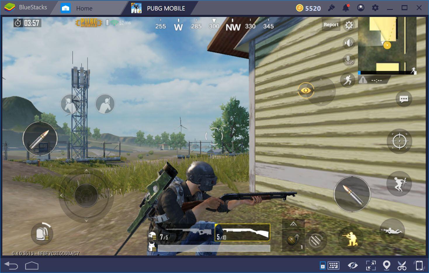 Vũ khí công nhà hiệu quả trong PUBG Mobile