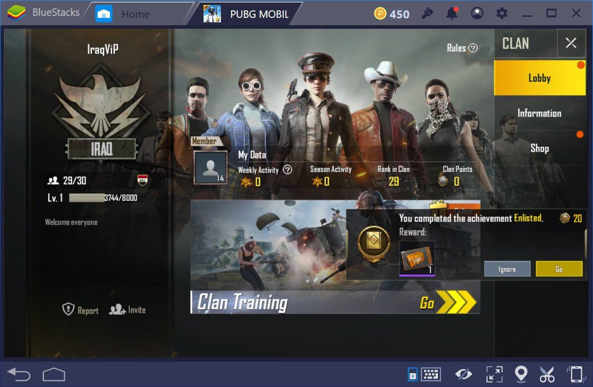 Clan là gì, mời người tham gia Clan trong PUBG Mobile như thế nào ?
