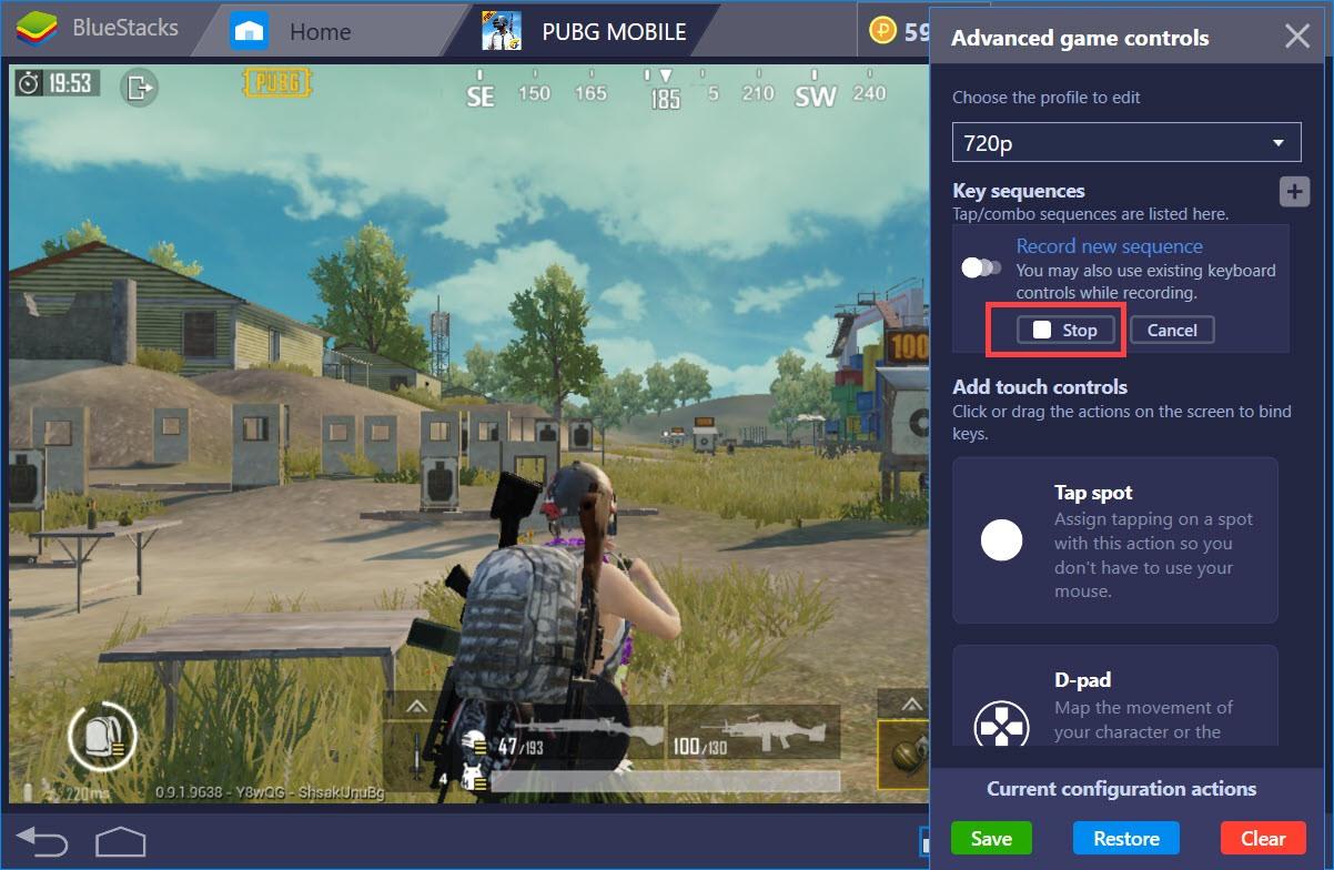 Sử dụng Combo Key của BlueStacks để hành động cực nhanh trong PUBG Mobile