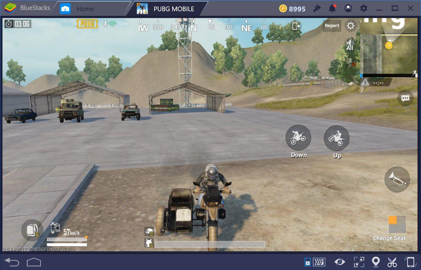Các phương tiện di chuyển trong PUBG Mobile