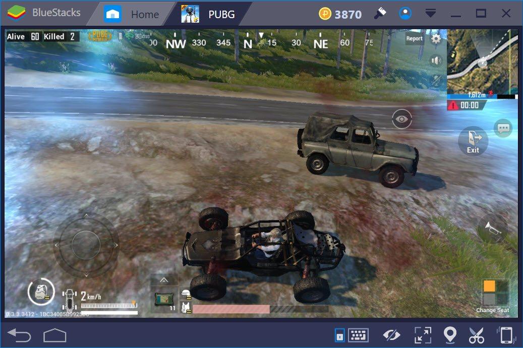 PUBG Mobile: Chế độ lái xe nào phù hợp nhất khi chơi bằng BlueStacks?