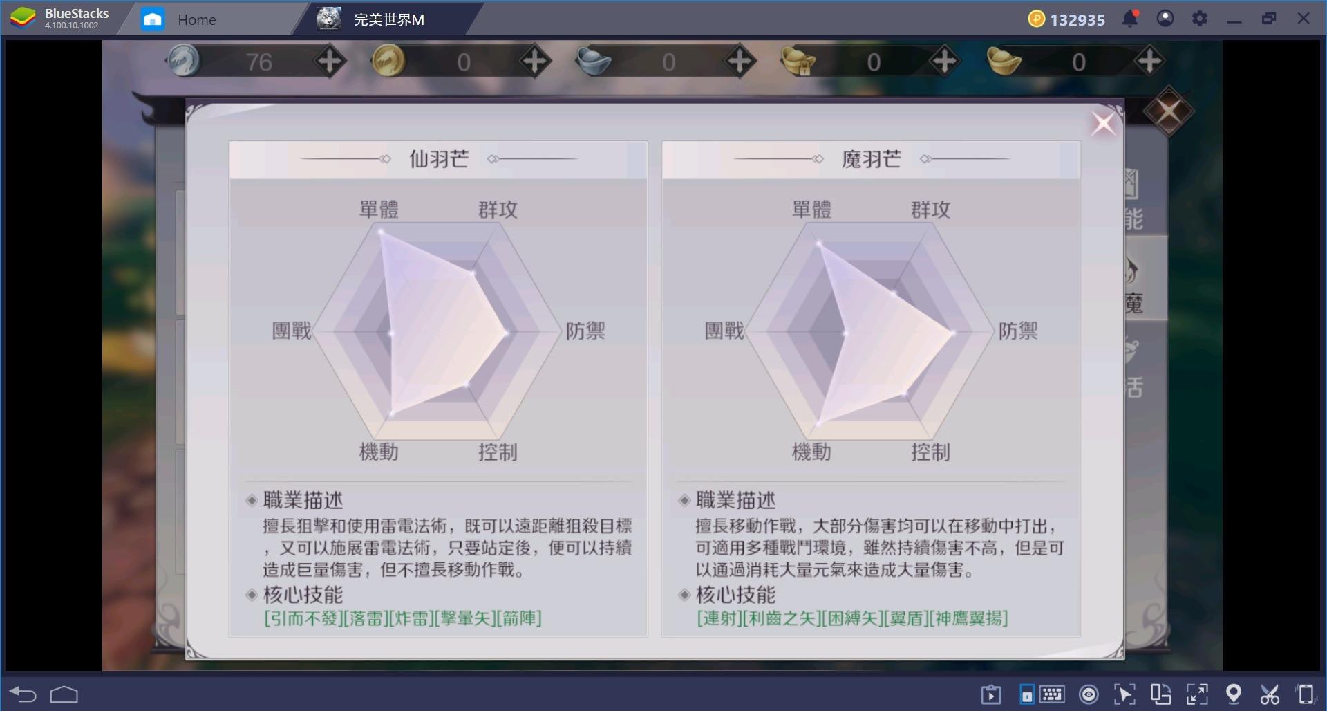 《完美世界M》:羽芒職業之介紹