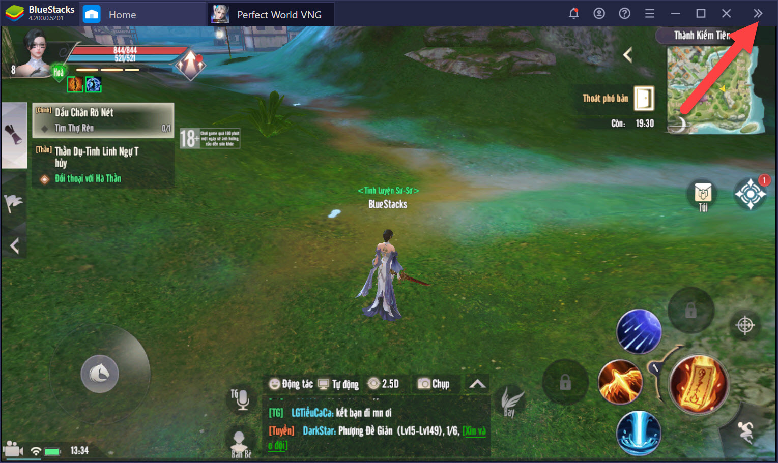 Thiết lập Game Controls, nâng cao trải nghiệm gameplay Perfect World VNG