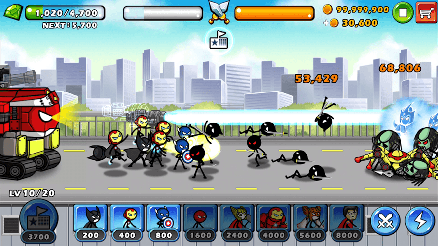 Chơi HERO WARS: Super Stickman Defense on PC 3