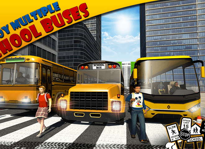 Play School bus Driver 3D on PC 5