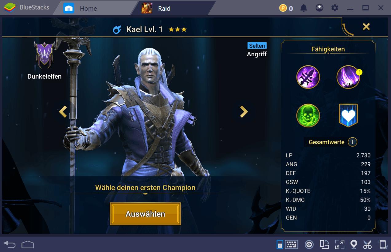RAID: Shadow Legends – Der beste erste Champion und das Setup zu Spielbeginn