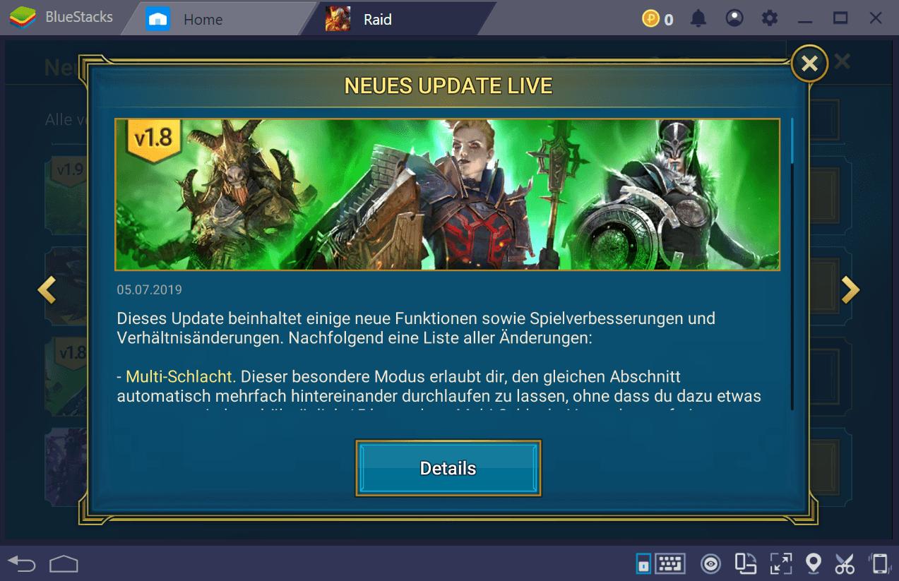RAID: Shadow Legends Update 1.8 ist live, und hier sind die Einzelheiten