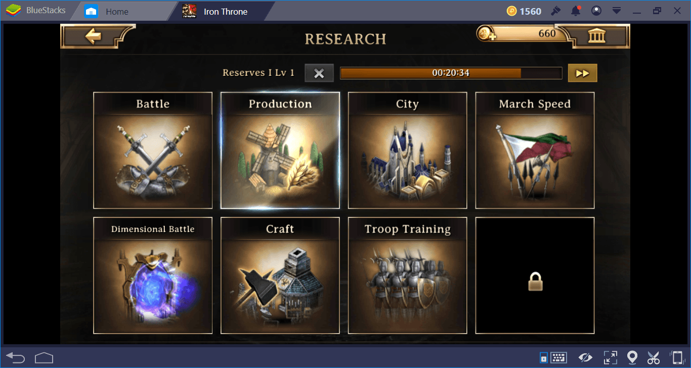 Iron Throne Research & Equipment Guide