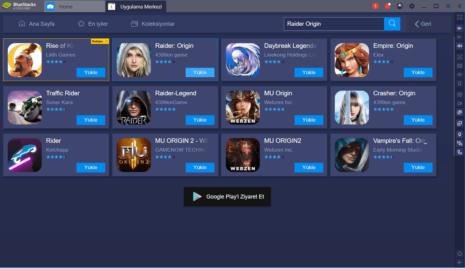 Raider Origin BlueStacks Kurulum ve Bilgisayar Yapılandırma Ayarları Rehberi