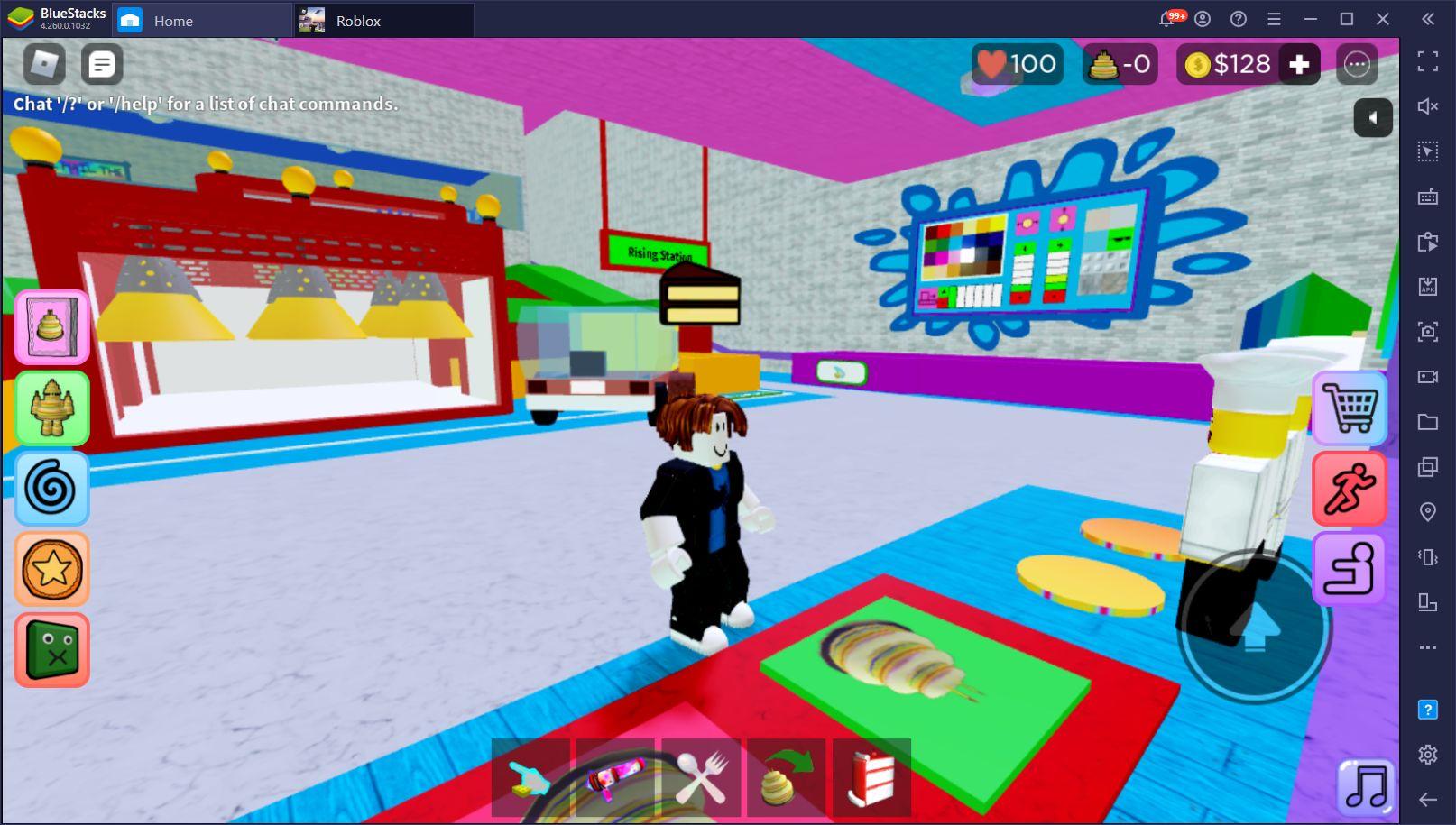 Roblox auf dem PC – Verwende die BlueStacks-Werkzeuge und in deinen Roblox-Spielen