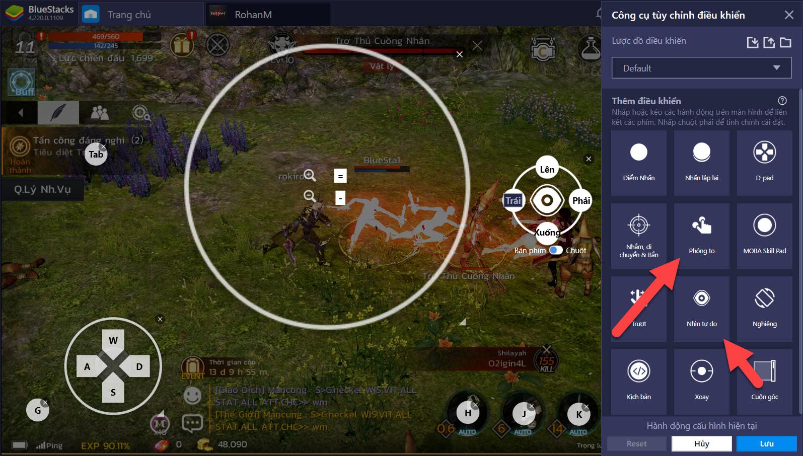 Thiết lập Game Controls cho PvP và PvE trong ROHAN M