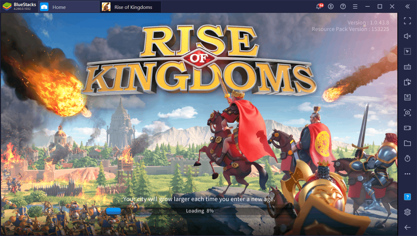 BlueStacks 5 vs BlueStacks 4 – So sánh hiệu năng khi chơi game Rise of Kingdoms