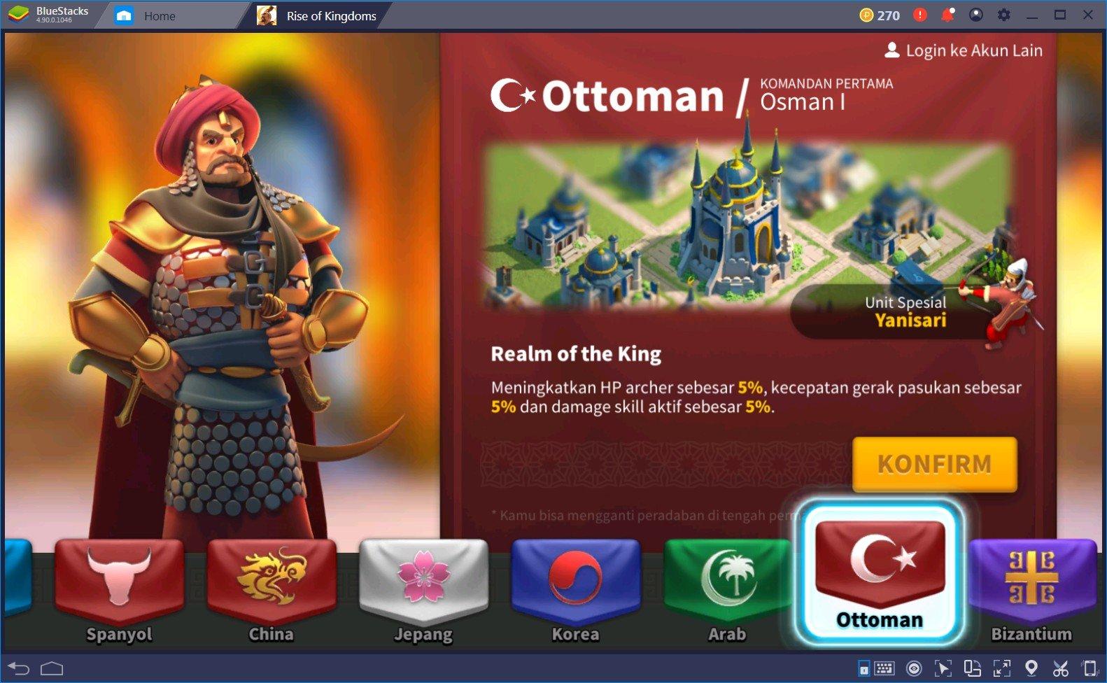 Panduan Utama Dalam Memilih Peradaban Terbaik di Game Rise of Kingdoms