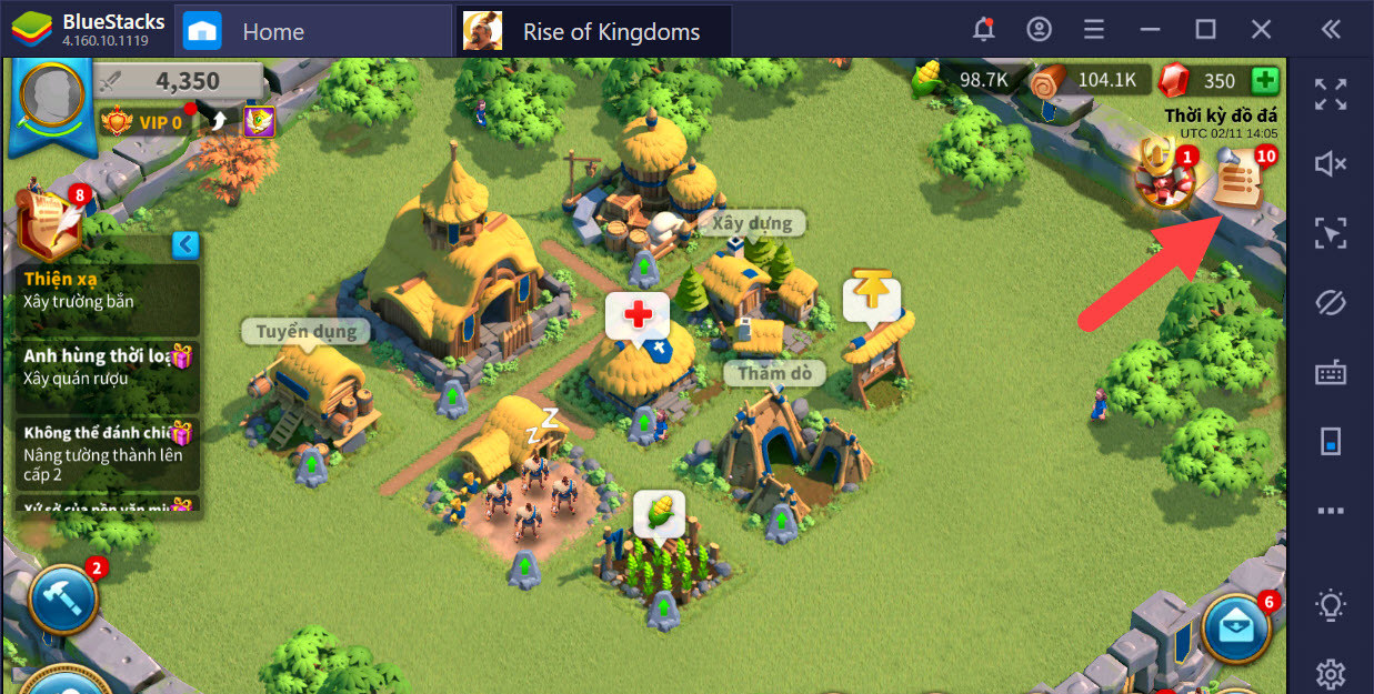 Mẹo phát triển nhanh trong Rise of Kingdoms