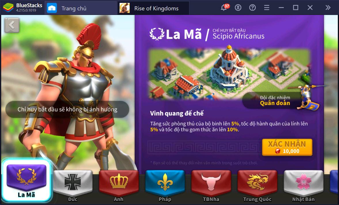 Rise of Kingdoms: Chơi chuyên Bộ Binh cần phát triển như thế nào?