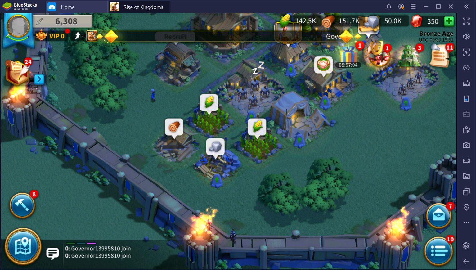 Mengotomatiskan Aksi Berulang di Rise of Kingdoms di PC dengan BlueStacks Macros