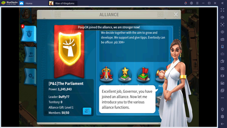 Rise of Kingdoms على جهاز الكمبيوتر:دليل التحالف النهائي
