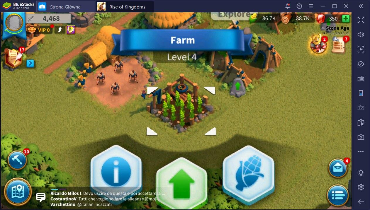 Rise of Kingdoms przewodnik o rolnictwie