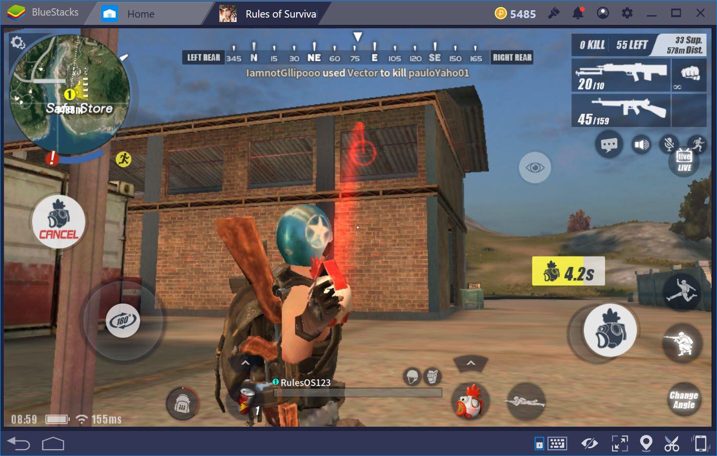 Vũ khí nên dùng khi tấn công nhà trong Rules of Survival
