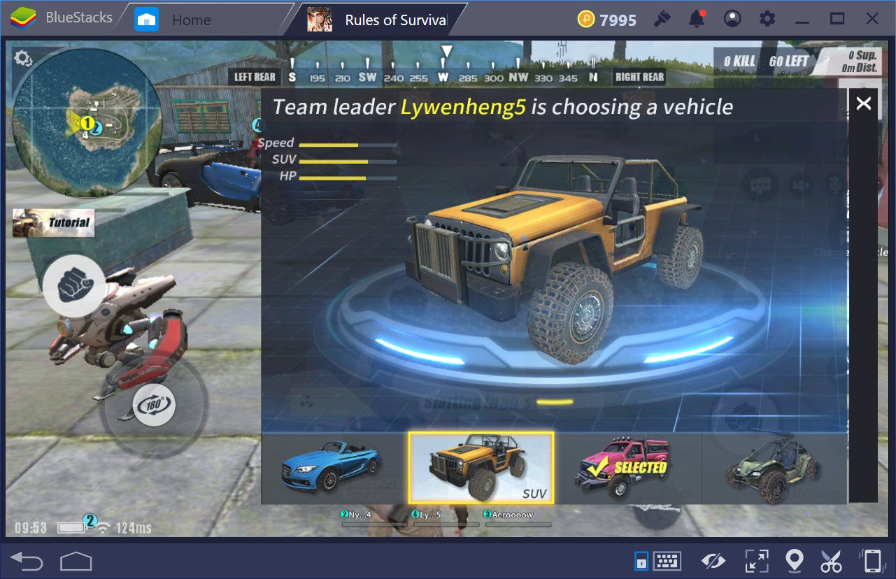 Cách chọn xe chế độ Death Race Mode trong Rules of Survival
