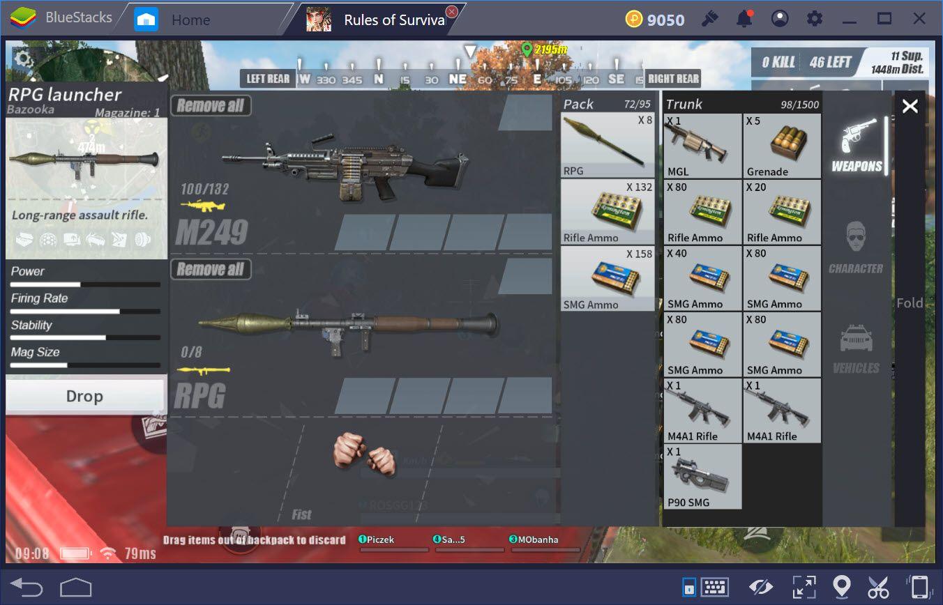 Rules of Survival: Các loại vũ khí có trong chế độ DeathRace