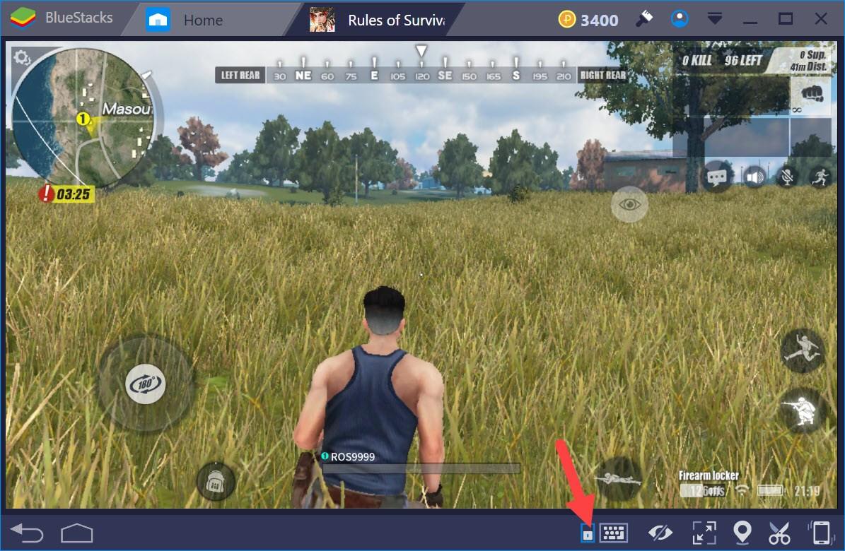 Rules of Survival: Hướng dẫn gán phím tắt khi chơi trên BlueStacks