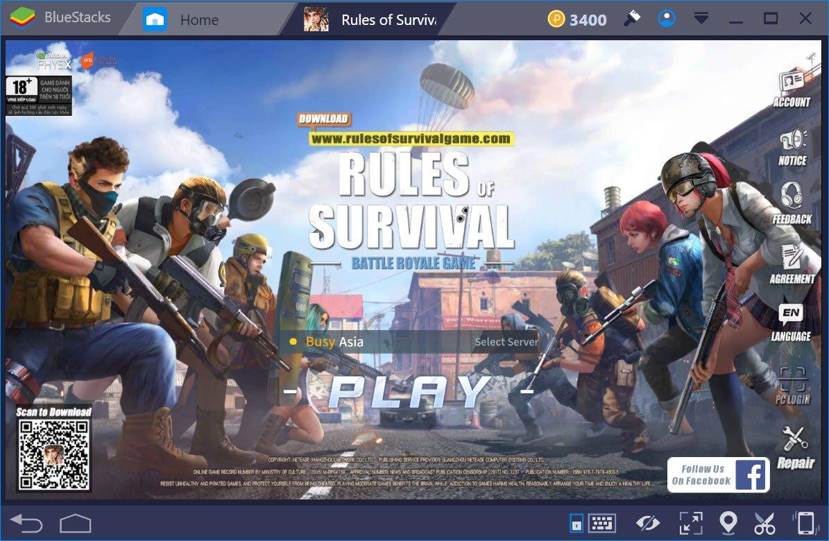Rules of Survival: Cách thiết lập cấu hình, chế độ hiển thị khi chơi trên BlueStacks