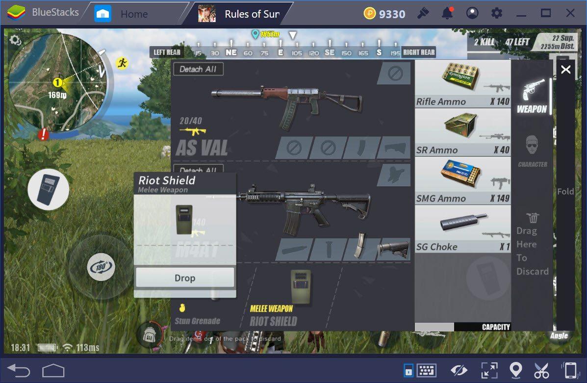 Có nên sử dụng khiên chống đạn trong Rules of Survival ?