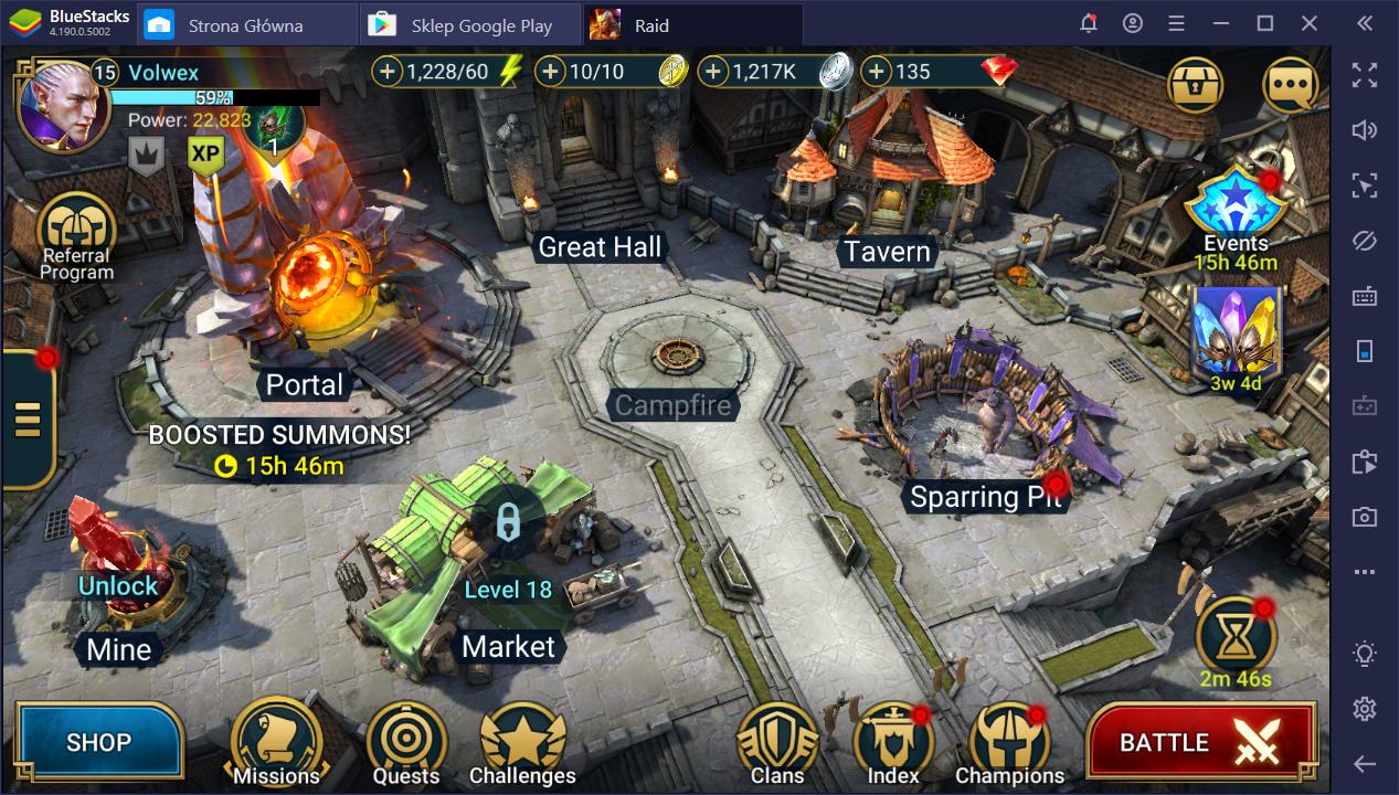 RAID: Shadow Legends na PC - Najlepszy pierwszy bohater i wczesna konfiguracja rozgrywki