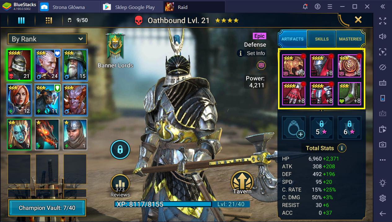 Raid: Shadow Legends na PC: Rerolling - Przewodnik