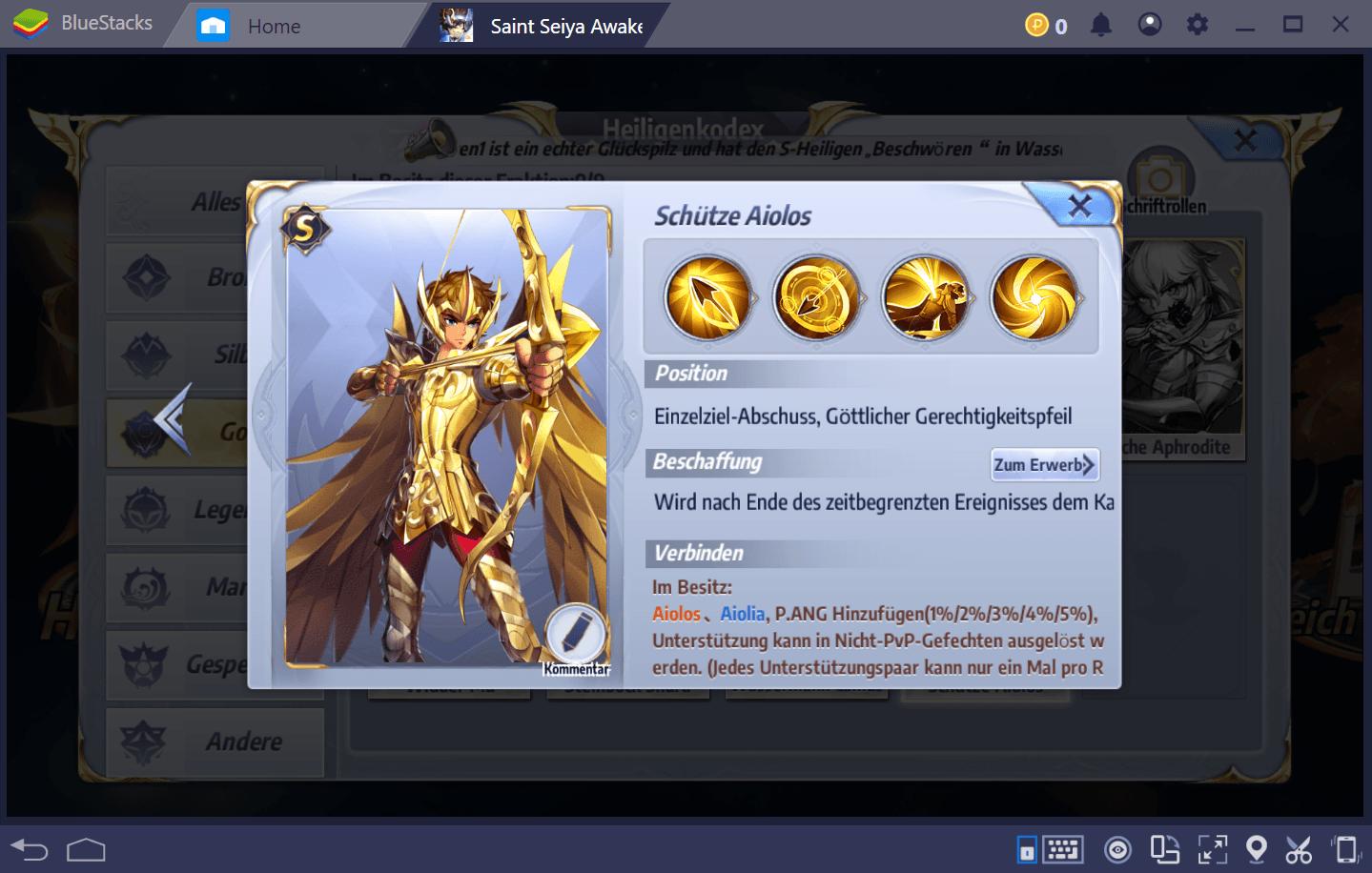 Saint Seiya Awakening: Guide zu den besten Heiligen im Spiel