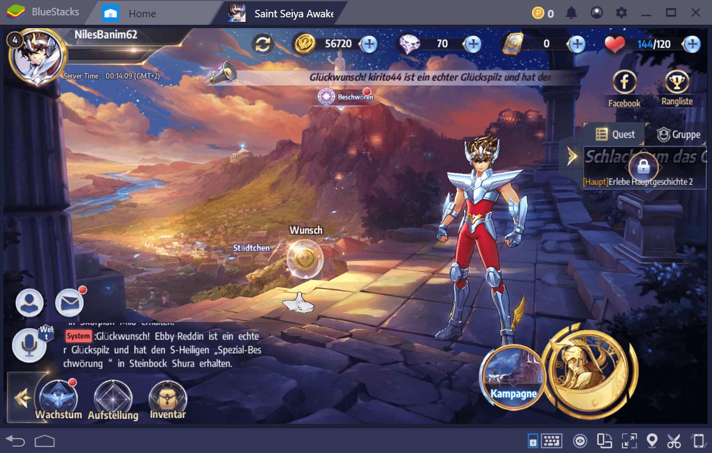 Saint Seiya Awakening: Wie man auf BlueStacks spielt